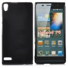 Protective TPU Back Case for Quidway Ascend P6 - Black