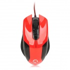 Motospeed V1 USB 2.0 Wired Optical 800 / 1200 / 2000 / 3200dpi Gaming Mouse - Red + Black