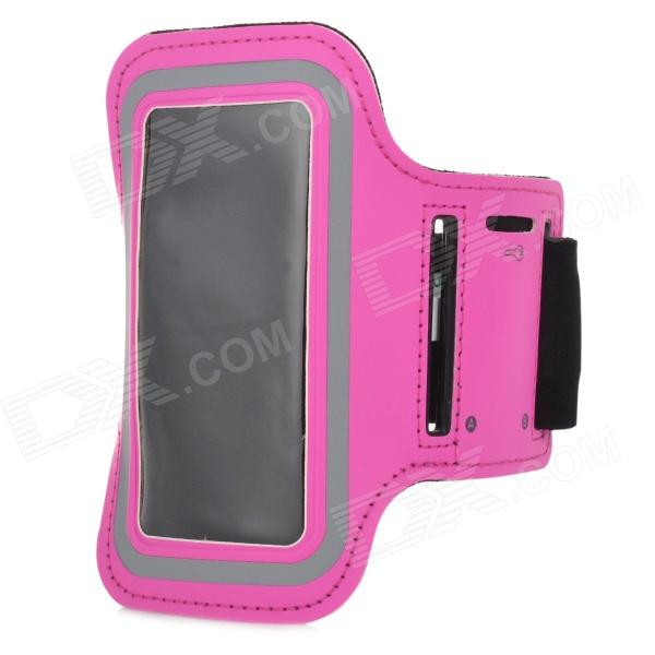 цена на Stylish Protective Diving Fabric Sports Armband for Samsung Galaxy S4 Mini i9190 - Deep Pink