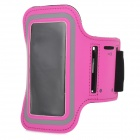 Stylish Protective Diving Fabric Sports Armband for Samsung Galaxy S4 Mini i9190 - Deep Pink