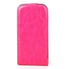 Protective Flip-Open PU Leather Case for Samsung Galaxy S4 i9500 - Deep Pink