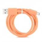 USB Male to Micro USB Male Data / Charging Cable - Orange (90cm)