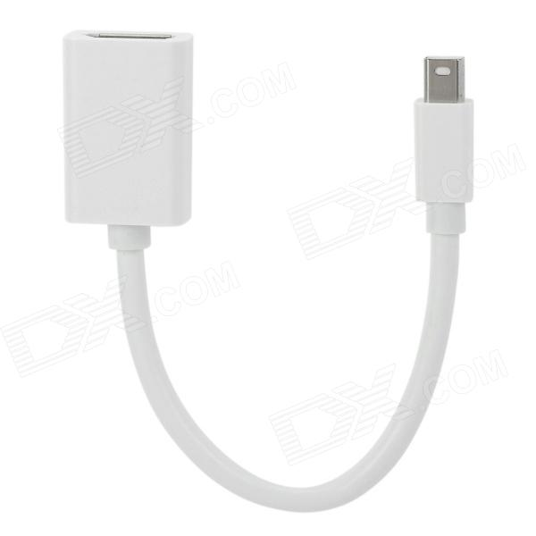 Mini DisplayPort DP Male to DisplayPort DP Female Adapter Cable for MacBook - White (20 CM) mini displayport dp to hdmi adapter cable mini display port converter thunderbolt for apple mac macbook pro air