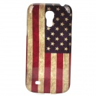 Retro US Flag Style Protective Plastic Back Case for Samsung Galaxy S4 Mini i9190 - Blue + Red