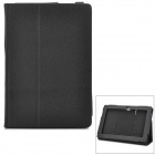 Protective PU Leather Case w/ Stand for Asus Padfone 3 - Black