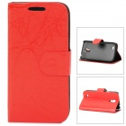 Lightning Pattern Protective PU Leather Case for Samsung Galaxy S4 Mini i9190 - Red