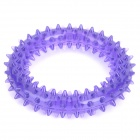 Cute Round Style w/ Thorn TPR Teeth Grinding / Cleaning Toy for Pet Dogs - Purple