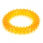 Cute Round Style w/ Thorn TPR Teeth Grinding / Cleaning Toy for Pet Dogs - Orange