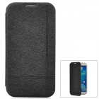 Elegant Protective PU Leather Case for Samsung Galaxy S4 i9500 - Black + White