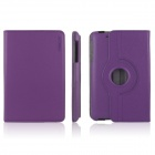 ENKAY ENK-7105 360' Rotation Protective PU Leather Case Cover Stand for Google Nexus 7 - Purple