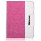 ENKAY ENK-3138 Jean Style PU Leather Case for Ipad 2 / 4 / the New Ipad - Pink + White