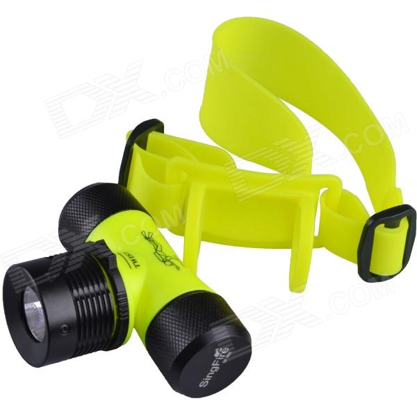 SingFire SF-602 200lm 3-Mode Underwater Diving Headlamp w/ Cree XP-E Q5 - Yellow (1x18650 / 3xAAA)