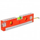 LV-04 Multifunction Measuring Laser Level w/ LED + Ruler + Tape - Red + Silver (3 x AG13)