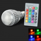 XLZM-RGB9QPD E27 9W 450lm 9-LED RGB Light Bulb - White (AC 85~265V)