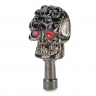 Stylish Universal Crystal-inlaid Skull Adornment Anti-dust Plug for Cellphone - Black