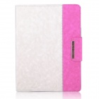 ENKAY ENK-3138 Jean Style PU Leather Case for Ipad 2 / 4 / the New Ipad - White + Pink