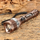 PINMING MP8066 Cree XP-E Q5 120lm 3-Mode White Zooming Flashlight - Brown (1 x 18650 / 3 x AAA)