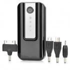 Universal 6000mAh Rechargeable Li-ion Power Bank for Cellphone - Black + Silver