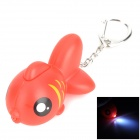 Cute Fish Style LED White Flashlight Keychain - Red (3 x AG10)