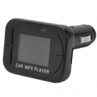 Portable Car Cigarette Lighter Powered SD / TF Card MP3 w/ FM - Black (4 GB Max.)