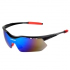 INBIKE IG639 Outdoor Cycling UV400 Protection Polarized Goggles w/ Replacement Lenses - Black