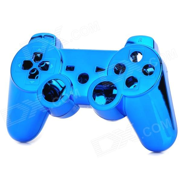 Replacement ABS Full Case for PS3 / PS3 Slim / PS3 4000 Controller - Electroplating Blue