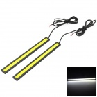 10.5W 315lm 6000K 105-LED White Light Daytime Running Light - Black + Yellow (2 PCS / DC 12V)