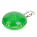 2-Mode LED Lighting Clip-on Safety Light for Pet Dog - Green + Silver