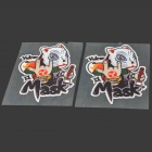 Stylish FIL Car Decorative Sticker - Black + White + Red (2 PCS)