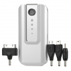 Universal 6000mAh Rechargeable Li-ion Power Bank for Cellphone - White + Silver