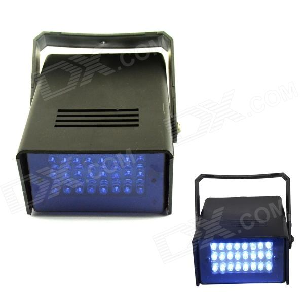 XL-16B 5W 480nm 24-LED Blue Light Flash Party Disco Mini Strobe stage Light - Black (90~240V) носки stance носки ж run womens speed of light ss17