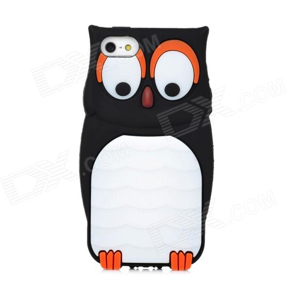 MTY Stylish Owl Style Protective Flexible Silicone Back Case for Iphone 5 - Black stylish protective silicone back case for iphone 5 black