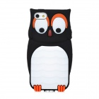 MTY Stylish Owl Style Protective Flexible Silicone Back Case for Iphone 5 - Black