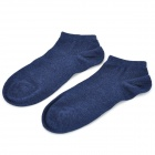 Free Size Casual Cotton Socks - Deep Blue (Pair)