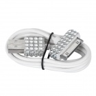 Crystal-inlaid USB Male to Apple 30 Pin Male Data Sync & Charging Cable for iPhone 4 / 4S (100cm)