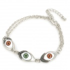 Stylish 3-Eye Connection Zinc Alloy Bracelet - Silver