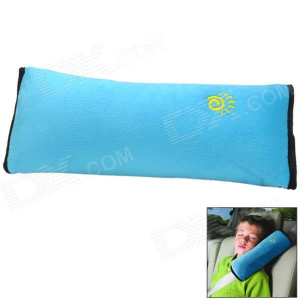 Comfy Cotton Velvet Pillow Type Safety Belt for Children - Blue