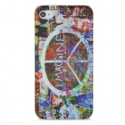 Protective Imagine Scrawl Pattern Plastic Back Case for Iphone 4 / 4S - Colorful