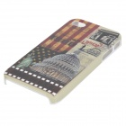 Graffiti American Landmark Stylish Plastic Back Case for Iphone 4 / 4S - Multicolored