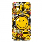 Graffiti Smiling Face Pattern Stylish Plastic Back Case for Iphone 5 - Multicolored