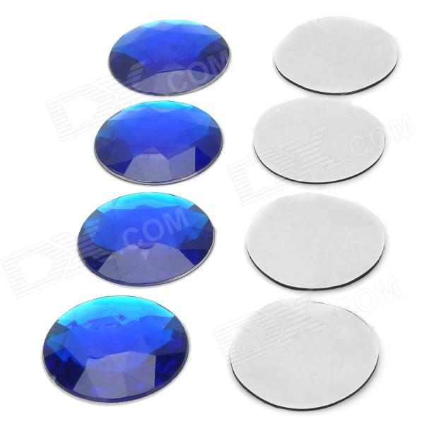 AC-088 Fashionable Reflective Shiny Crystal Decorative Wheel Sticker for Car - Blue car wheel rims decorative stickers blue 28 piece