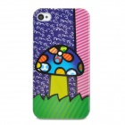 Graffiti Mushroom Pattern Plastic Back Case for Iphone 4 / 4S - Multicolored