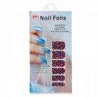 MGF512 Leopard Pattern Nail Art Sticker - Roxo