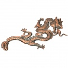 Stylish Zinc Alloy Dragon Car Decoration Sticker - Bronze