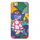 Protective Scrawl Girl Pattern Plastic Back Case for Iphone 5 - Colorful