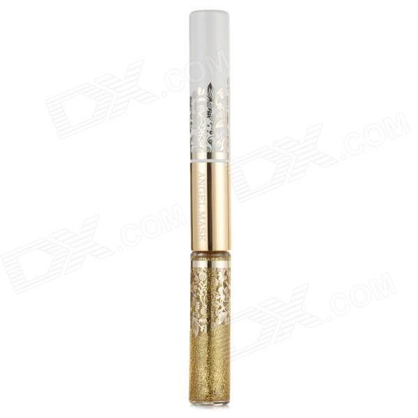 Hengfang AG4823 Mini Double Head Shimmer Liquid Eyeliner - Golden + Black free shipping 3 pp eyeliner liquid empty pipe pointed thin liquid eyeliner colour makeup tools lfrosted purple