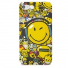 Protective Scrawl Smile Pattern Plastic Case for Iphone 4 / 4S - Colorful