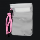 Universal Waterproof Cell Phone PVC Bag w/ Strap for iPhone / HTC / Samsung - White