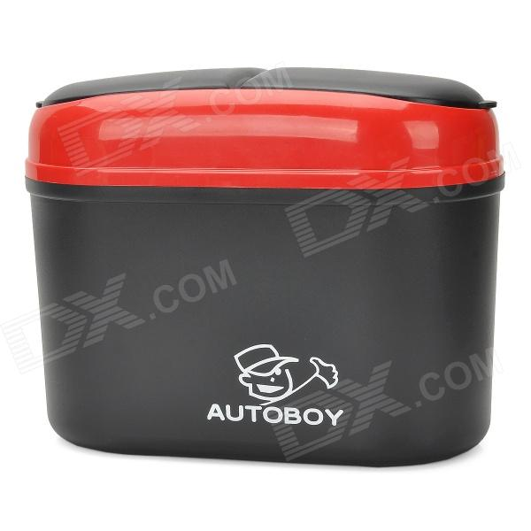 все цены на R-1608 Convenient Plastic Car Trash Bin - Red + Black онлайн