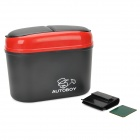 R-1608 Convenient Plastic Car Trash Bin - Red + Black